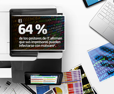64% of IT managers state their printers are likely infected with malware.2